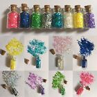 8 BOTTLES/CRAFT JARS-FAIRY DUST/PIXIE GLITTER-PARTY BAG FILLER-2cm-MINI/SMALL