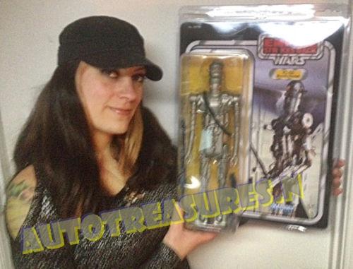 Gran gentil gigante de Estrella Wars 12  IG-88 Bounty Hunter Kenner Jumbo Figura De Acción