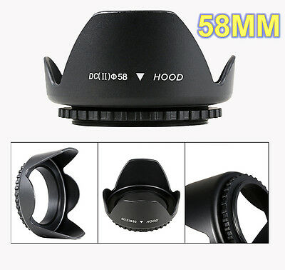 58mm Petal Lens Hood For Canon EOS 100D 600D 650D 700D 1100D 1200D 18-55mm