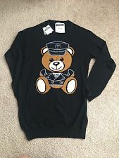 Moschino Police bear wool mini dress size xs