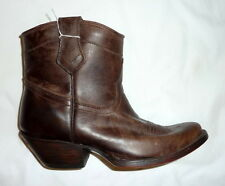 Charlie 1 Horse I4910 Lucchese Size 6B Mia Womens Demi Boot Side Zip CHOCOLATE