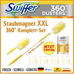 Swiffer Staubmagnet XXL 360° Komplett-Set Staubwischer Staubwedel Staubfänger