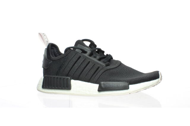 Adidas Womens Nmd_R1 Black/Black/Orchid Tint Running Shoes Size 6.5 (1556757)