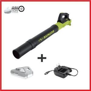 Sun Joe 24-Volt iON+ Cordless Compact Turbine Jet Blower Kit w/ Battery Charger