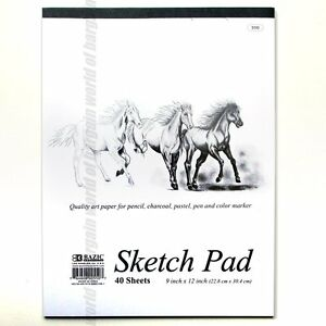 40 sheets SKETCH PAD 9x12 Sketchbook Premium Quality Drawing Art Paper Book C28