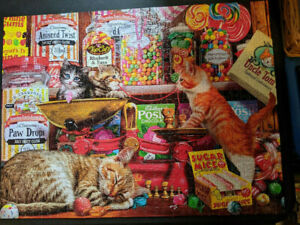 Buffalo - Cats: Sweet Shop Kittens - 750-piece Jigsaw Puzzle - Great Condition!