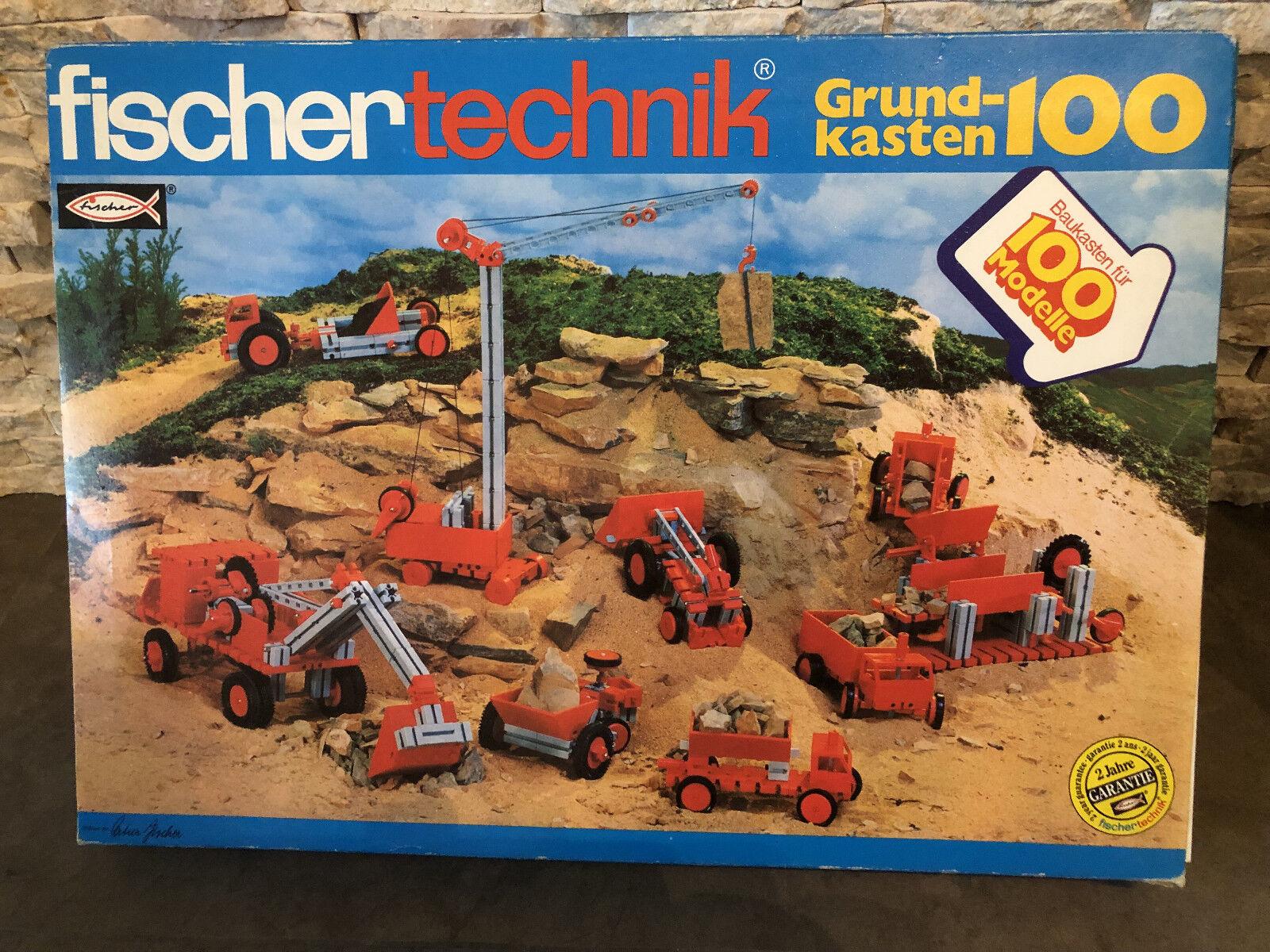 Fischertechnik Grundkasten 100: 50 + 50/1, Art. Nr. 30131, mit Anleitung wNEU