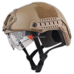 Emerson MH Helmet+NVG Shroud Tactical Airsoft Hunting Adjustable Predection Tan   save up to 70%