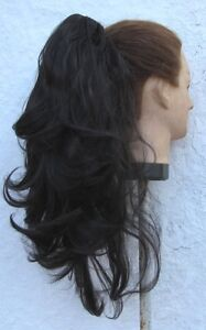 very dark brown wavy curly straight 2 way clip in pony tail hair extension piece - Slough, United Kingdom - very dark brown wavy curly straight 2 way clip in pony tail hair extension piece - Slough, United Kingdom