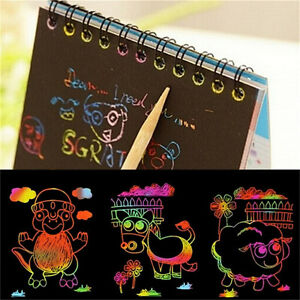 Kids-Stationery-Set-Notebook-Stylus-Paper-Note-Drawing-Educational-ToyRU