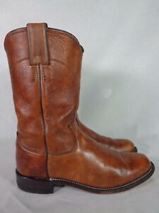 84dcdce914b98 Details about Justin Women's Boots Leather Western Cowboy Vintage  Distressed Brown Roper 6.5 B