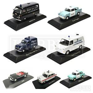 Polizia-britannica-Cars-1-43-SCALA-ATLAS-Editions-modelli-Diecast-Ford-Jaguar-Austin