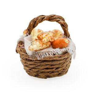 1//12 Dollhouse Miniature Bread// Toast on a Basket Simulation food Kitchen HK