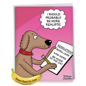 image is loading j4520nygc jumbo funny new year card dog resolutions