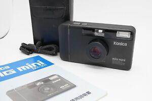 [MINT w/ Case] KONICA Big-mini BM-301 Point & Shoot Film Camera 35mm f/3.5 Japan