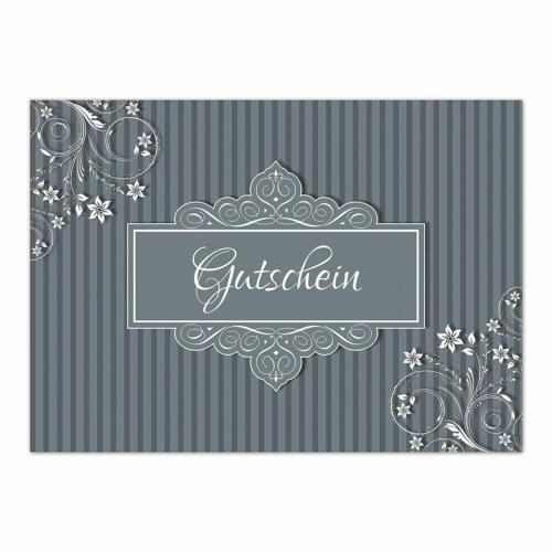 Vintage DIN A6 Motiv 30 moderne Geschenk-Gutscheine für Kunden mit Umschlag