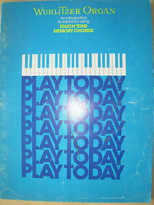 Instruction Books, Cds & Video Beautiful Wurlitzer Organ An Introduction To Instant Fun Using Touch Tone Memory Chords