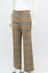Burberry-London-Nova-Check-Wool-Trousers-Pants-Size-M-Made-in-France