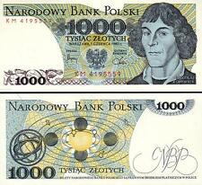 POLAND 1000 1,000 ZLOTY 1982 UNC MIKOLAJ KOPERNIK P.146C