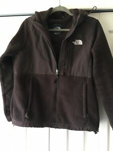 64fdd07f6 Details about Womens The North Face Chocolate Brown Fleece Hooded Denali  Jacket Size M