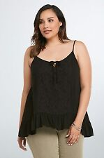 2cee9ef4002 item 7 Torrid Womens Cami Tank Top Plus Size 2 2X Gauze Crochet Lace  Sharkbite (HHH14) -Torrid Womens Cami Tank Top Plus Size 2 2X Gauze Crochet  Lace ...