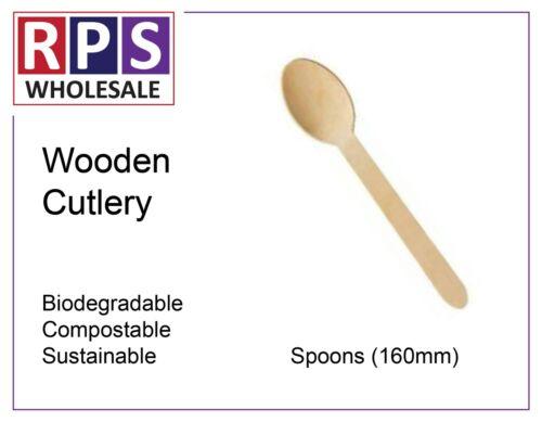 Biodégradable en bois cuillères compostable durable en bois couverts