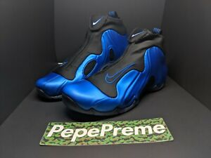 low priced df3ac 6775c Image is loading Mens-Nike-Air-Flightposite-Shoes-Dark-Neon-Royal-
