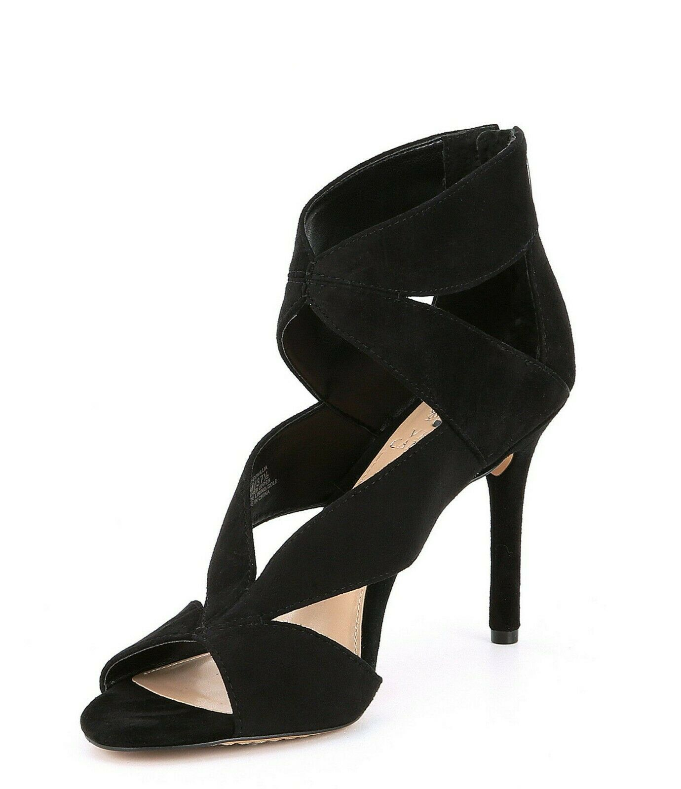 6.5 7.5 8 VINCE CAMUTO CAMUTO CAMUTO COMILLIA BLACK SUEDE LEATHER WOMEN'S SANDAL SHOES ebf80c