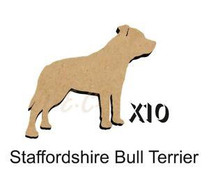 10 Staffordshire Bull Terrier MDF découpes Porte-clés-enjoliver 5 Tailles dogw 199-ishing 5 SIZES DOGW199afficher le titre d`origine HMWx1tXX-07202657-418089130