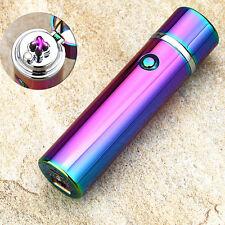Cool Rainbow USB Plasma Dual Arc cigar Lighter Flameless Rechargeable Windproof