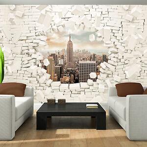 vlies tapete fototapete tapeten ziegel meuer stadt loch. Black Bedroom Furniture Sets. Home Design Ideas