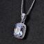 Damen-Halskette-Silber-925-Smaragd-Amethyst-Edelstein-Kette-Silber-mit-Anhaenger Indexbild 17