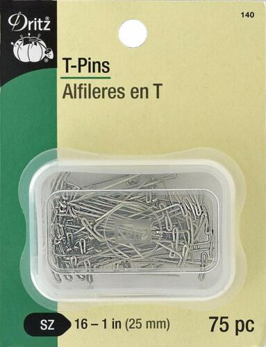 100 1-1//2-Inch 109 1-1//4-Inch Dritz T Pins 140 1-Inch 101 1-3//4-Inch