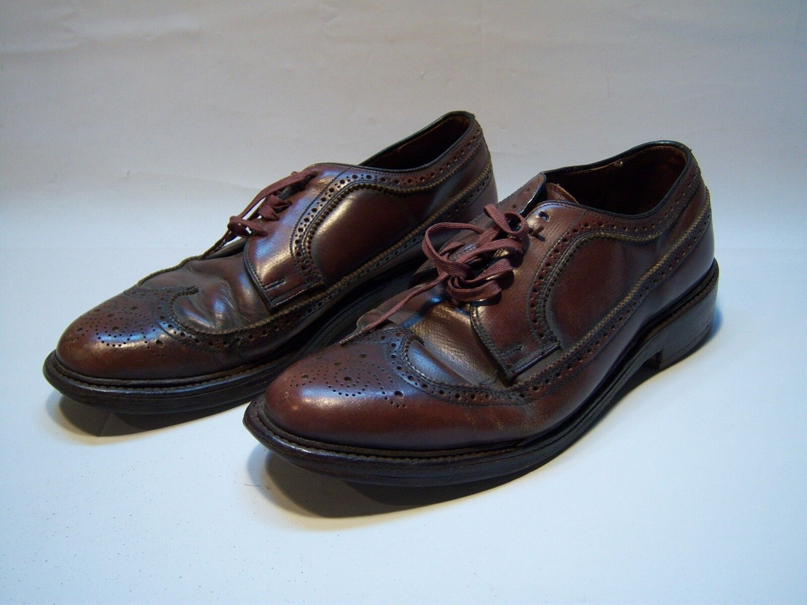 Vintage Casual Leather Oxford Shoes Men's Size 10