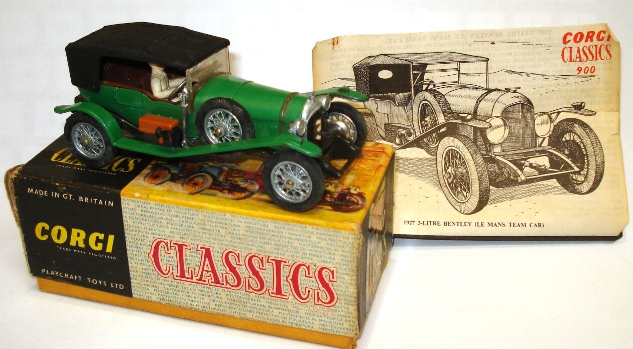 CORGI NO. 9001 - 1927 LE MANS 3 LIRE BENTLEY - A MINT BOXED