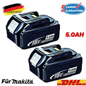 2x Original Replacement Battery Makita BL1860 18V 5AH LXT Li-ion BL1850 BL1840 BL1830