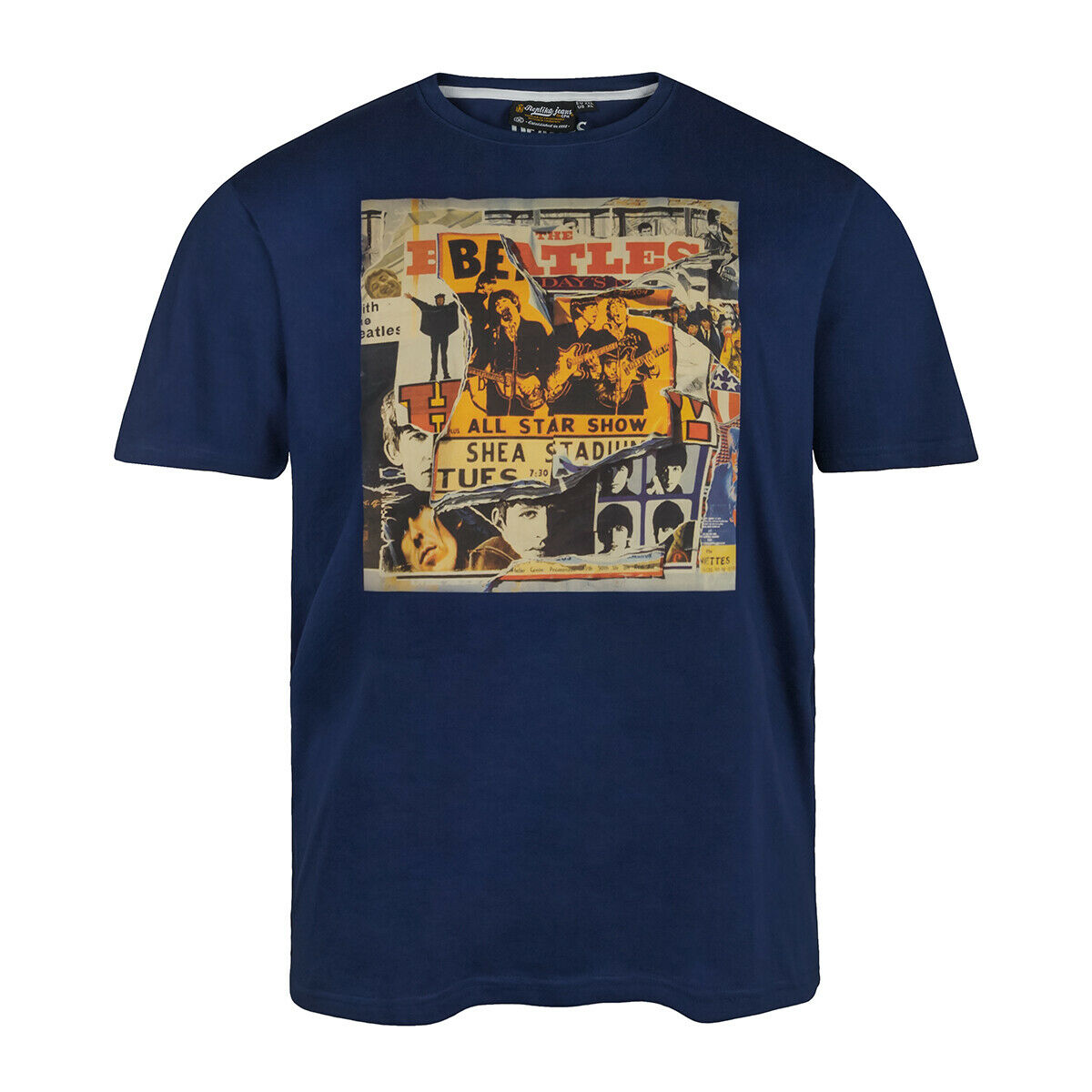 Replica attualmente by AllDimensione T-shirt blu con stampa misure grandi