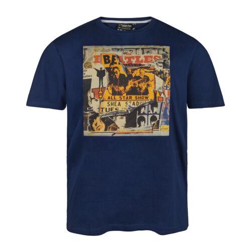 Réplique by Allsize T-shirt bleu avec pression grande taille