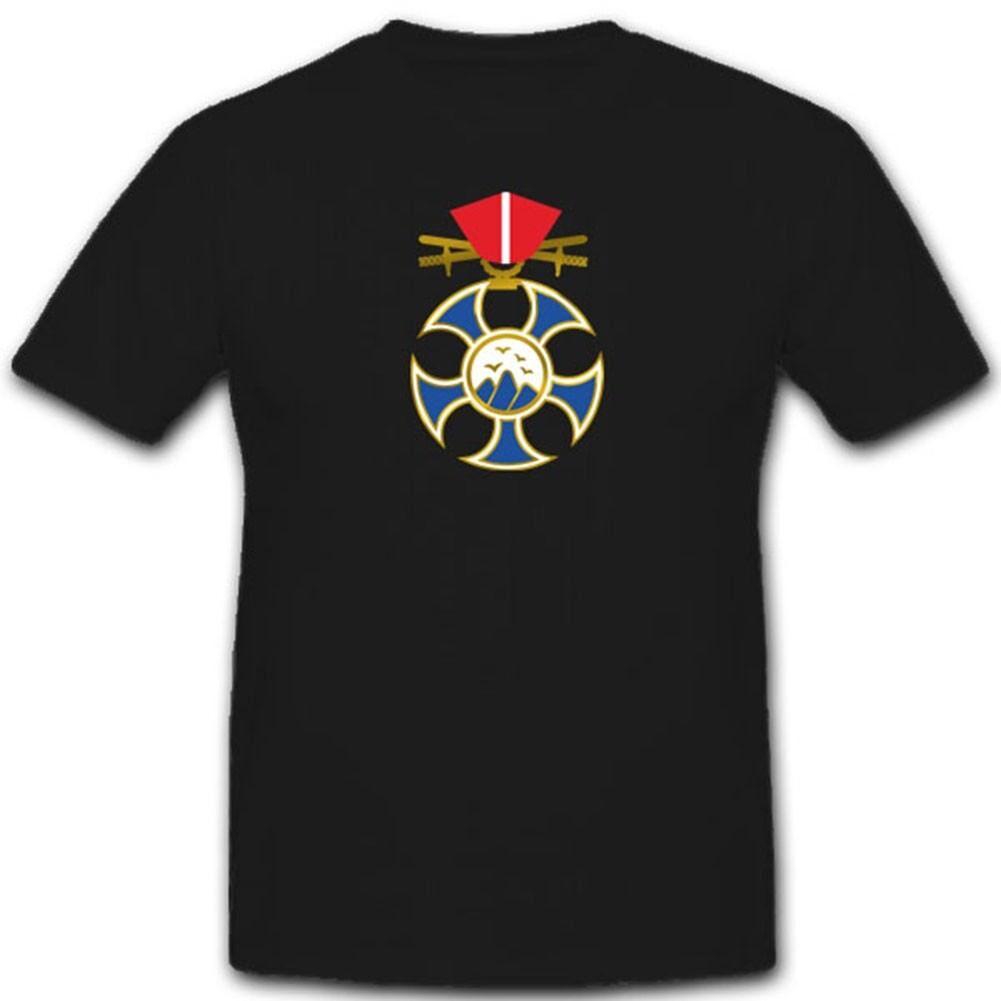Falken Orden Abzeichen Tschechoslowakei National Wk Wappen- T Shirt
