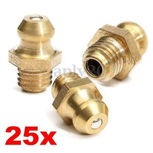25pcs-1-4-034-Drive-Type-1-4-28-Taper-Thread-Straight-Grease-Zerk-Nipple-Fitting-US