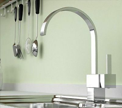 New Swivel Kitchen Sink Basin Chrome Single Hole Brass Faucet Mixer Tap 8517Byy