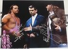Shawn Michaels & Bret Hart Signed WWE 16x20 Photo PSA/DNA COA w/ Vince McMahon