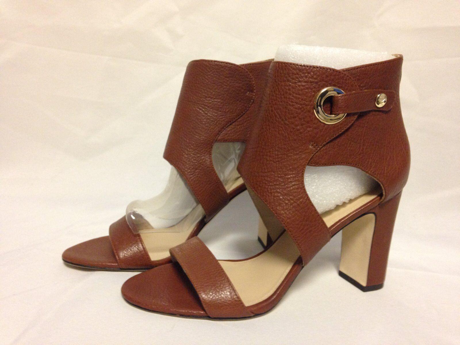 Via Spiga Adra Open Toe Heel  8 M Russet Brown Pelle  New with Box