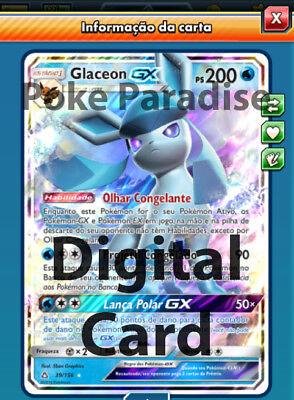 Glaceon GX Ultra Prism Pokemon TCG Online ! PTCGO Digital Card !!