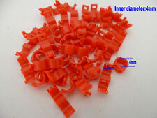 20 Pcs 4 mm Red Bird Ring Leg Bands Parrot Finch Canary Grouped