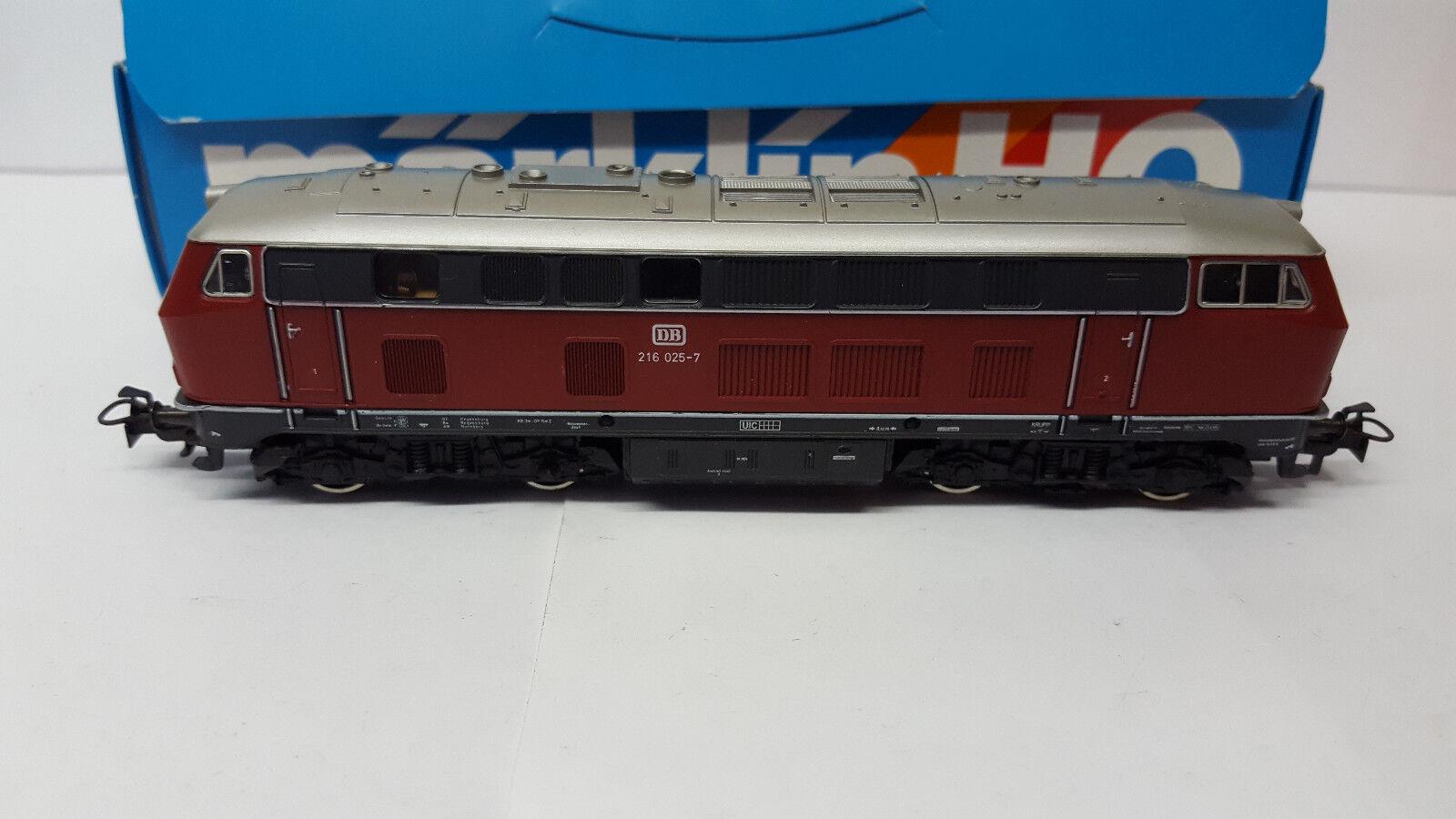 Märklin 3075 DB diesellok br 216 025-7 top OVP