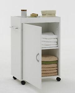 nischenwagen multifunktionsschrank rollwagen beistellschrank wei ebay. Black Bedroom Furniture Sets. Home Design Ideas