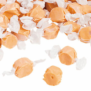 Orange Salt Water Taffy - Candy Buffet - Graduation - Wedding - 193 Pieces
