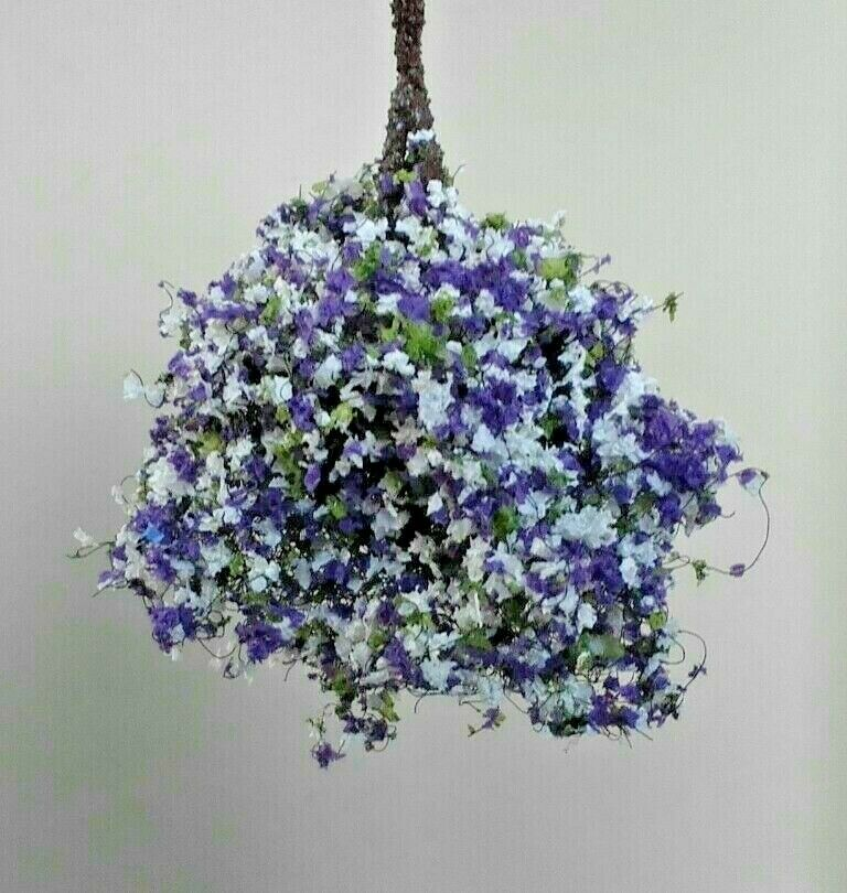 Beautiful 1:12 Scale Dollhouse Miniature Hanging Pansies Flowers NEW #S2913