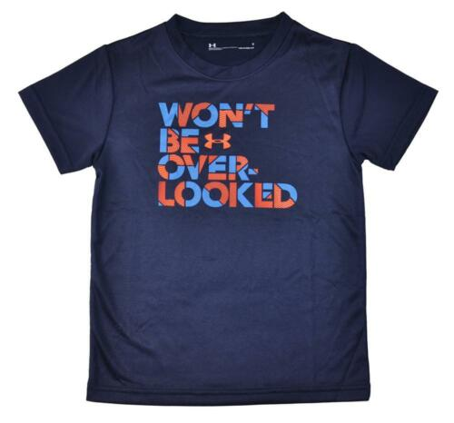 Under Armour Boys Navy Won/'t Be Over-Looked Dry Fit Top Size 5